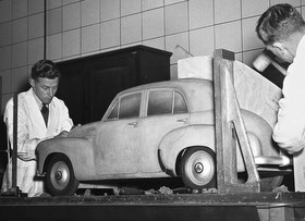 Production of FJ Holden clay model